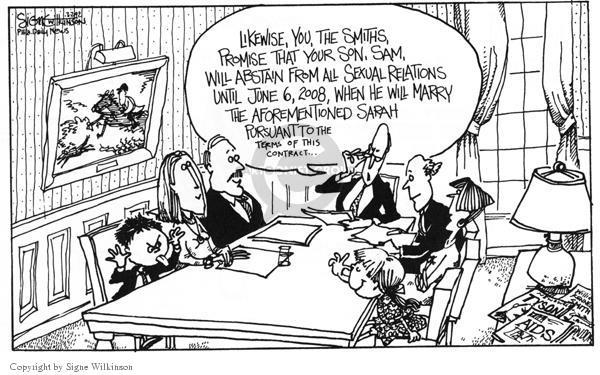 Cartoonist Signe Wilkinson  Signe Wilkinson's Editorial Cartoons 1992-03-29 agreement
