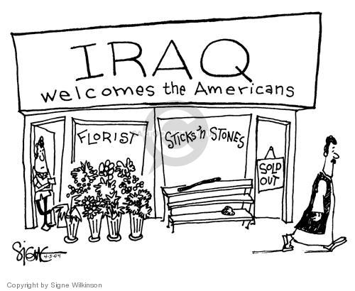 Signe Wilkinson  Signe Wilkinson's Editorial Cartoons 2004-04-05 riot