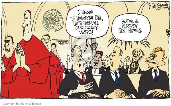 Cartoonist Signe Wilkinson  Signe Wilkinson's Editorial Cartoons 2005-04-05 honor