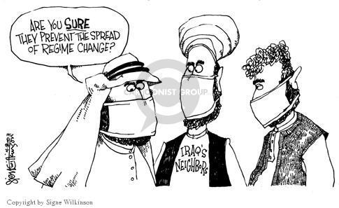 Cartoonist Signe Wilkinson  Signe Wilkinson's Editorial Cartoons 2003-04-08 SARS