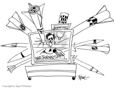 Cartoonist Signe Wilkinson  Signe Wilkinson's Editorial Cartoons 2003-04-10 invade