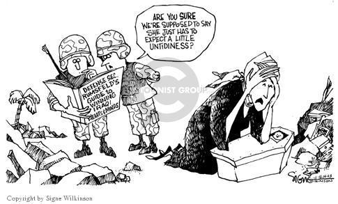 Cartoonist Signe Wilkinson  Signe Wilkinson's Editorial Cartoons 2003-04-14 invade