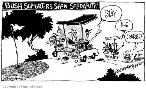 Cartoonist Signe Wilkinson  Signe Wilkinson's Editorial Cartoons 2004-04-14 2004 election