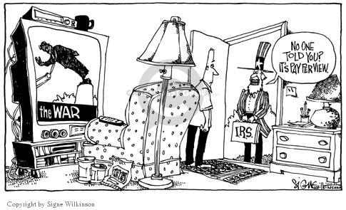 Cartoonist Signe Wilkinson  Signe Wilkinson's Editorial Cartoons 2003-04-15 cost