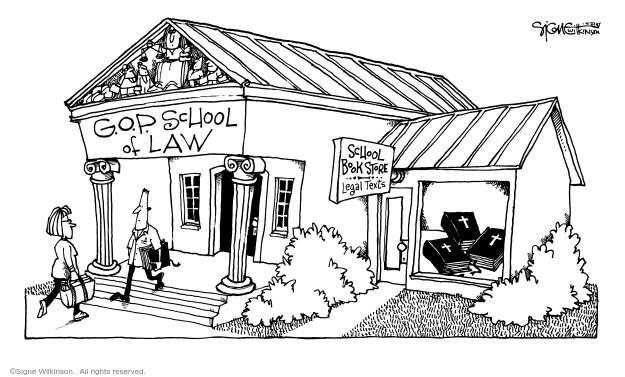 Cartoonist Signe Wilkinson  Signe Wilkinson's Editorial Cartoons 2005-04-22 Constitution