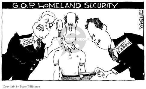 Cartoonist Signe Wilkinson  Signe Wilkinson's Editorial Cartoons 2003-04-23 invasion of privacy