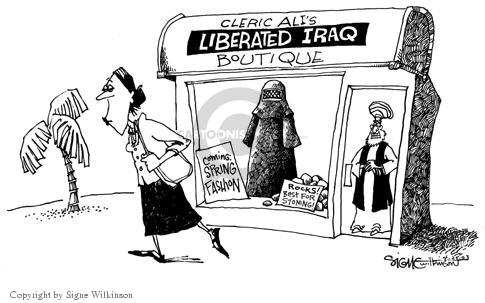 Signe Wilkinson  Signe Wilkinson's Editorial Cartoons 2003-04-25 burka