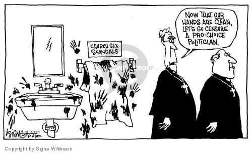 Cartoonist Signe Wilkinson  Signe Wilkinson's Editorial Cartoons 2004-05-03 2004 election