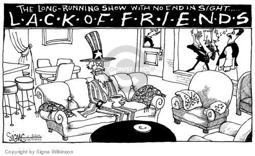 Cartoonist Signe Wilkinson  Signe Wilkinson's Editorial Cartoons 2004-05-05 isolation