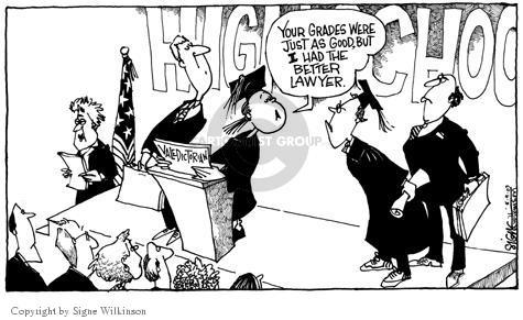 Cartoonist Signe Wilkinson  Signe Wilkinson's Editorial Cartoons 2003-05-09 honor