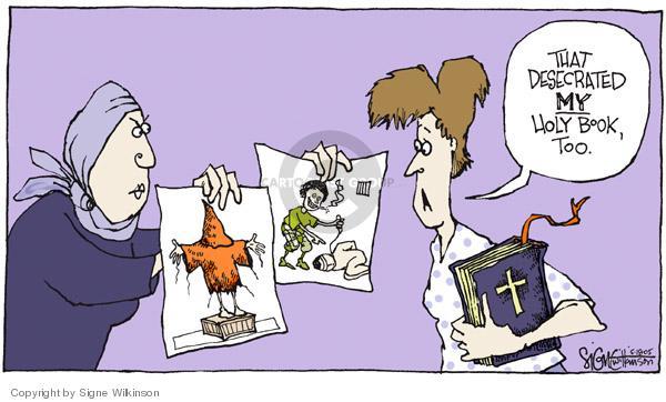 Cartoonist Signe Wilkinson  Signe Wilkinson's Editorial Cartoons 2005-05-18 similarity