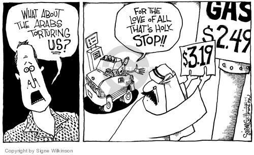 Cartoonist Signe Wilkinson  Signe Wilkinson's Editorial Cartoons 2004-05-19 cost