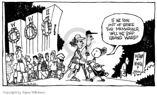 Cartoonist Signe Wilkinson  Signe Wilkinson's Editorial Cartoons 2004-06-01 World War II