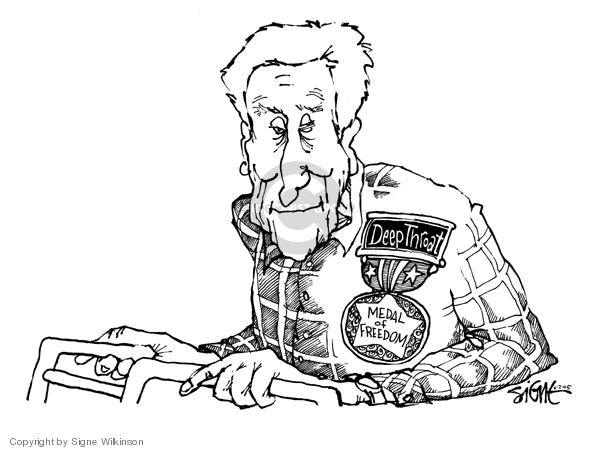 Cartoonist Signe Wilkinson  Signe Wilkinson's Editorial Cartoons 2005-06-02 honor