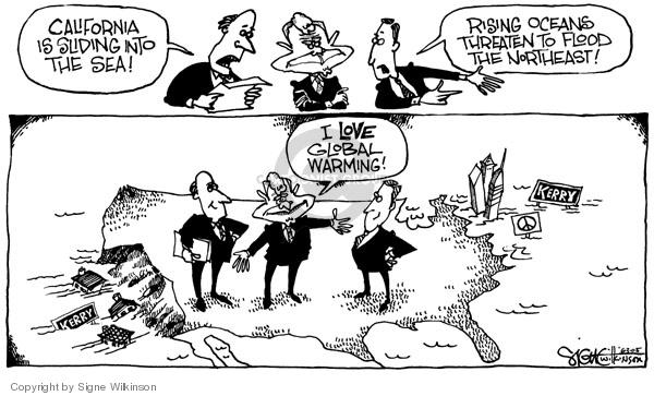 Cartoonist Signe Wilkinson  Signe Wilkinson's Editorial Cartoons 2005-06-03 temperature
