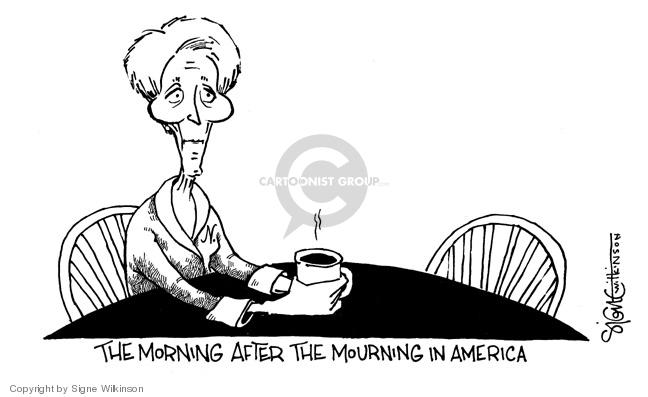 Cartoonist Signe Wilkinson  Signe Wilkinson's Editorial Cartoons 2004-06-11 Nancy Reagan