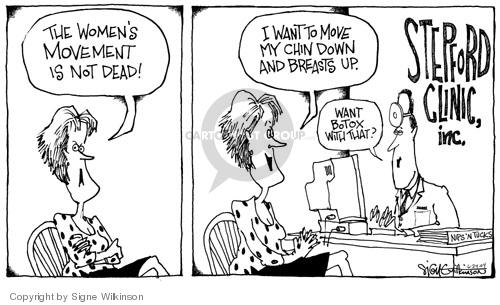 Cartoonist Signe Wilkinson  Signe Wilkinson's Editorial Cartoons 2004-06-21 patient