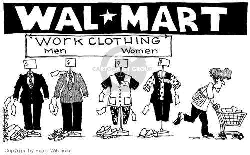 Cartoonist Signe Wilkinson  Signe Wilkinson's Editorial Cartoons 2004-06-23 gender discrimination