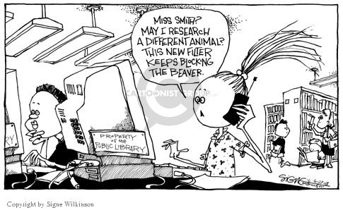 Signe Wilkinson  Signe Wilkinson's Editorial Cartoons 2003-06-27 internet privacy