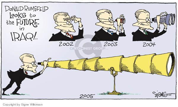 Cartoonist Signe Wilkinson  Signe Wilkinson's Editorial Cartoons 2005-06-28 2004