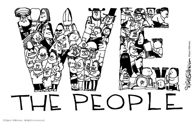 Cartoonist Signe Wilkinson  Signe Wilkinson's Editorial Cartoons 2003-07-03 Constitution