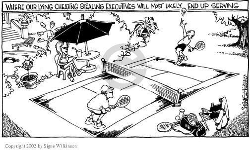 Signe Wilkinson  Signe Wilkinson's Editorial Cartoons 2002-07-11 justice