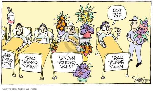 Signe Wilkinson  Signe Wilkinson's Editorial Cartoons 2005-07-12 flower bouquet