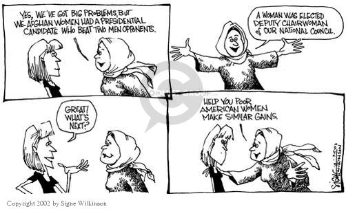 Cartoonist Signe Wilkinson  Signe Wilkinson's Editorial Cartoons 2002-07-15 equity
