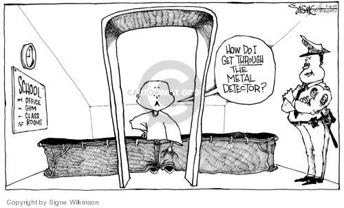 Cartoonist Signe Wilkinson  Signe Wilkinson's Editorial Cartoons 2004-07-16 guard