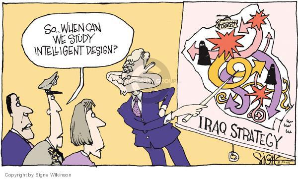 Cartoonist Signe Wilkinson  Signe Wilkinson's Editorial Cartoons 2005-08-04 theory