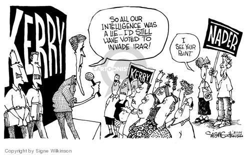 Signe Wilkinson  Signe Wilkinson's Editorial Cartoons 2004-08-10 lie