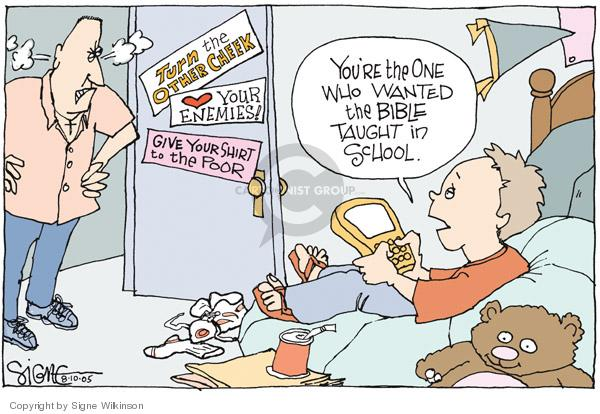Signe Wilkinson  Signe Wilkinson's Editorial Cartoons 2005-08-10 separation