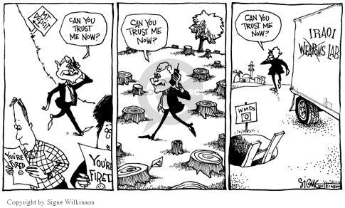 Cartoonist Signe Wilkinson  Signe Wilkinson's Editorial Cartoons 2003-08-12 laboratory