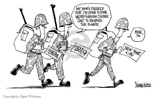 Cartoonist Signe Wilkinson  Signe Wilkinson's Editorial Cartoons 2003-08-15 shutdown