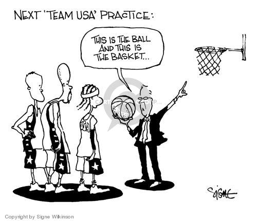 Cartoonist Signe Wilkinson  Signe Wilkinson's Editorial Cartoons 2004-08-16 team sport