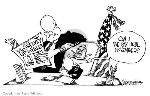 Signe Wilkinson  Signe Wilkinson's Editorial Cartoons 2004-08-17 Bush Cheney