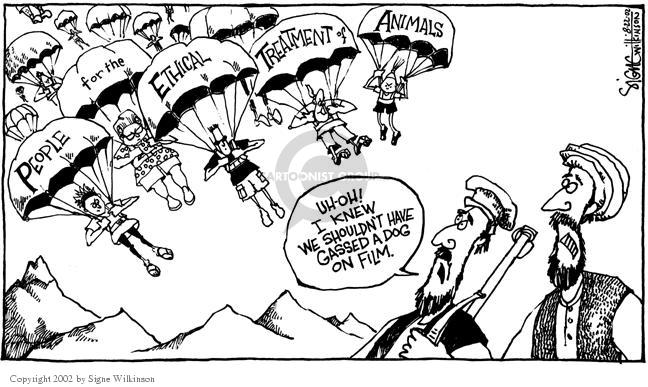 Cartoonist Signe Wilkinson  Signe Wilkinson's Editorial Cartoons 2002-08-22 terrorist