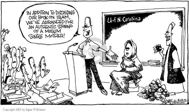 Cartoonist Signe Wilkinson  Signe Wilkinson's Editorial Cartoons 2002-08-23 college professor