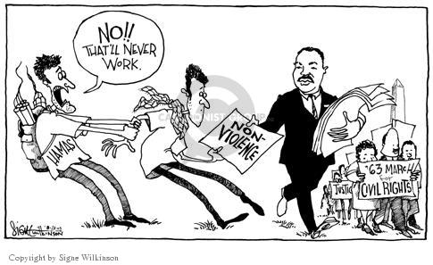 Signe Wilkinson  Signe Wilkinson's Editorial Cartoons 2003-08-27 Luther