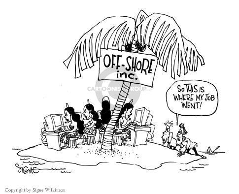 Cartoonist Signe Wilkinson  Signe Wilkinson's Editorial Cartoons 2003-08-28 unemployment