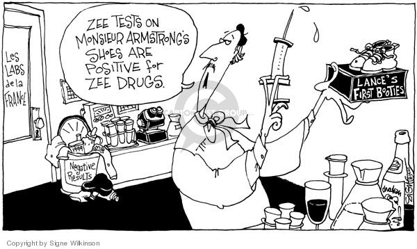 Cartoonist Signe Wilkinson  Signe Wilkinson's Editorial Cartoons 2005-08-29 laboratory