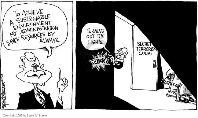 Cartoonist Signe Wilkinson  Signe Wilkinson's Editorial Cartoons 2002-08-29 injustice