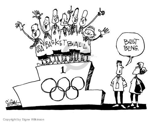 Signe Wilkinson  Signe Wilkinson's Editorial Cartoons 2004-09-01 2004 Olympics