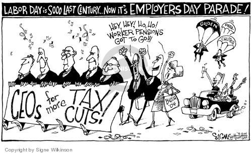 Signe Wilkinson  Signe Wilkinson's Editorial Cartoons 2004-09-03 executive compensation