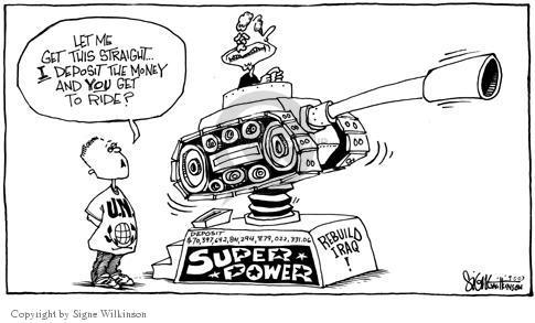 Cartoonist Signe Wilkinson  Signe Wilkinson's Editorial Cartoons 2003-09-05 rebuild