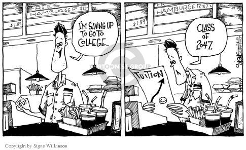 Cartoonist Signe Wilkinson  Signe Wilkinson's Editorial Cartoons 2003-09-09 food cost