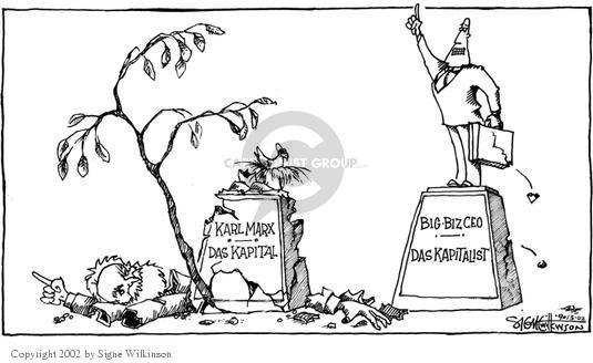 Signe Wilkinson  Signe Wilkinson's Editorial Cartoons 2002-09-13 economics