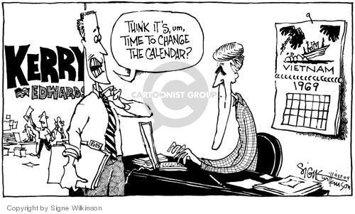 Signe Wilkinson  Signe Wilkinson's Editorial Cartoons 2004-09-13 calendar
