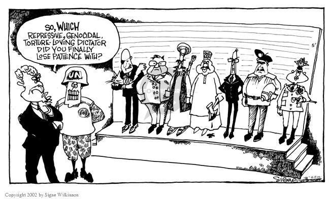 Signe Wilkinson  Signe Wilkinson's Editorial Cartoons 2002-09-17 political leader