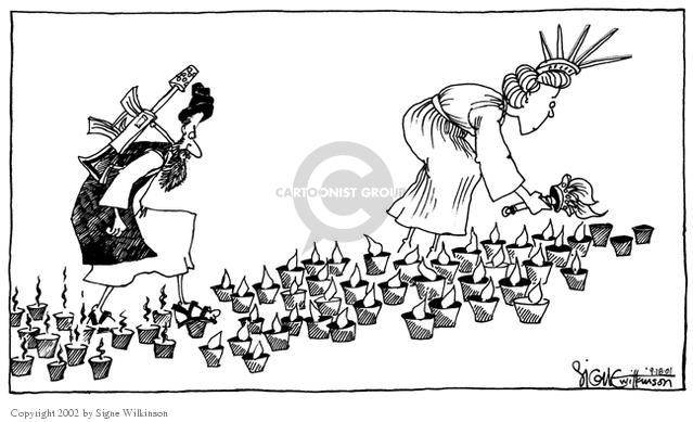 Signe Wilkinson  Signe Wilkinson's Editorial Cartoons 2001-09-18 put